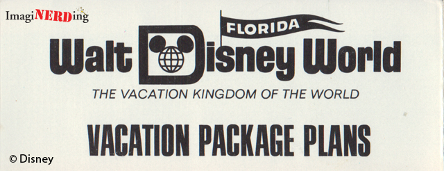 1971 Walt Disney World brochure