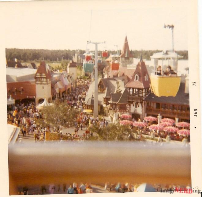 vintage magic kingdom photos Skyway over Fantasyland.