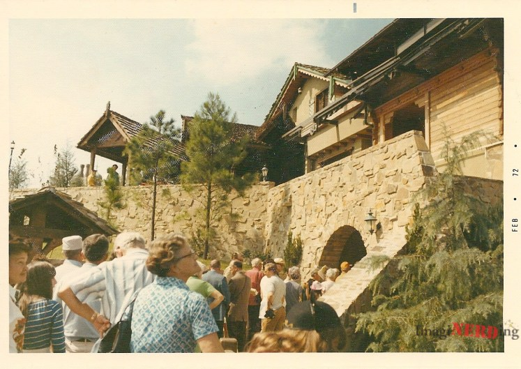vintage magic kingdom photos The Skyway to Tomorrowland Station in Fantasyland.