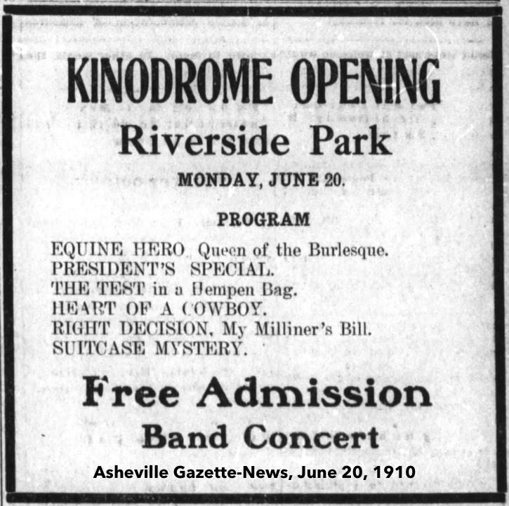 riverside park asheville kinodrome