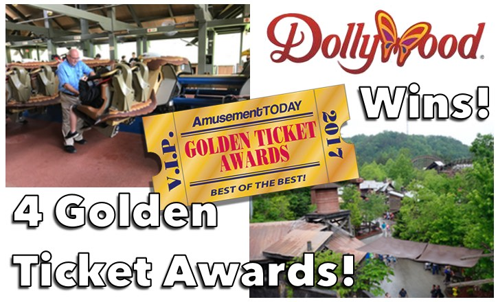 Dollywood Wins Four Golden Ticket Awards