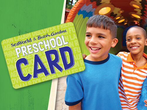 Busch Gardens Preschool Card!