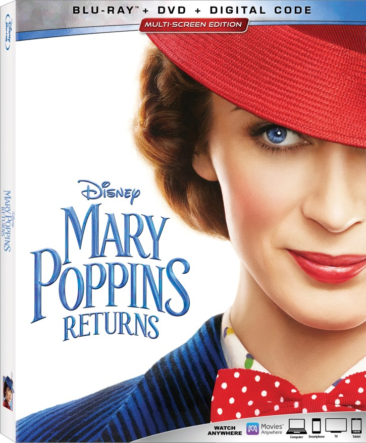 Mary Poppins Returns blu-ray cover