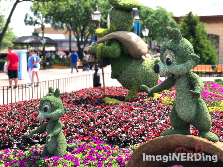 Epcot Food and Garden Festival 2019 Chip and Dale Topiary