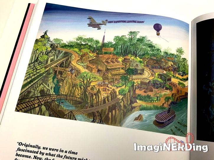 concept art of the Indiana Jones adventure at Disneyland from the book: Walt Disney's Disneyland