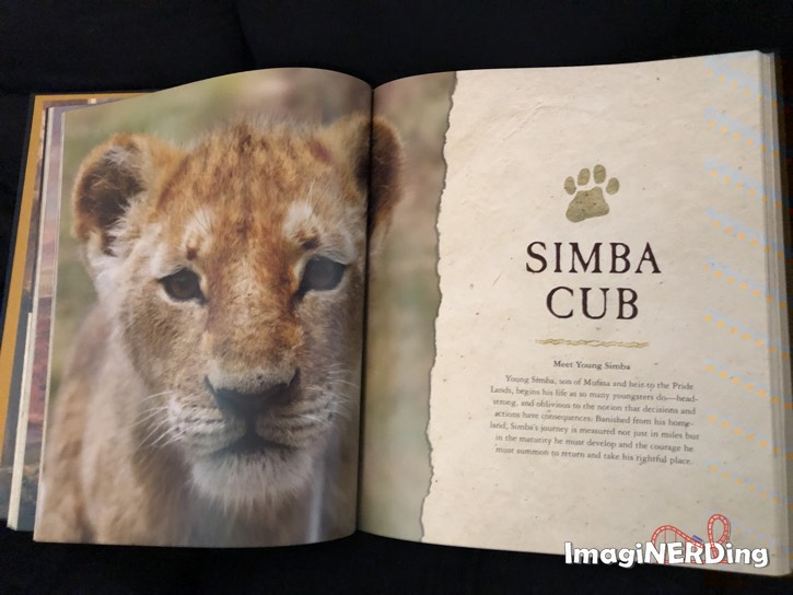 a page from the Art and Making of the Lion King book featuring Simba Cub