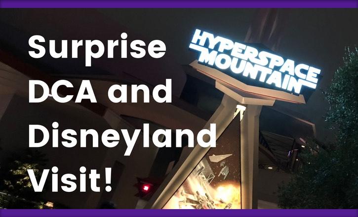 Surprise Disneyland and DCA Visit!