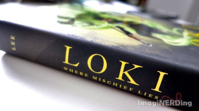 close-up of the spine of the book Loki: Where Mischief Lies