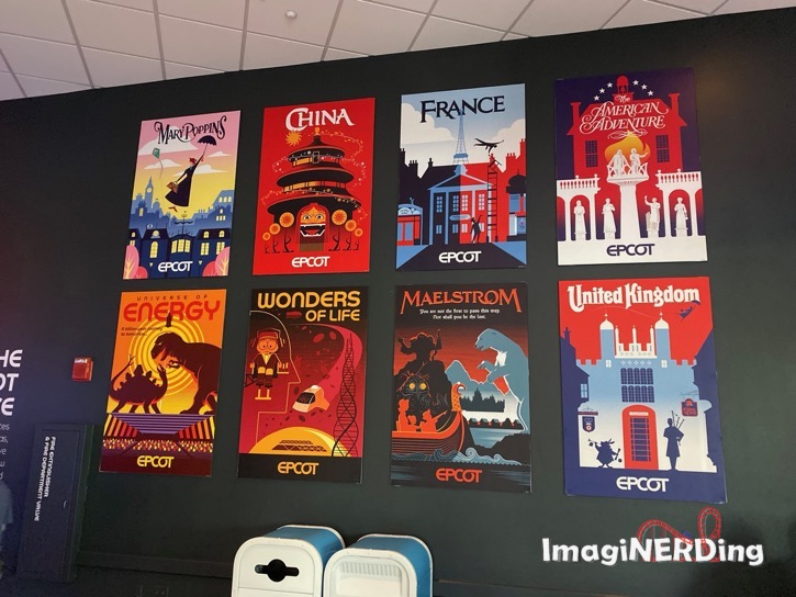 various ephor experience attraction posters on the wall