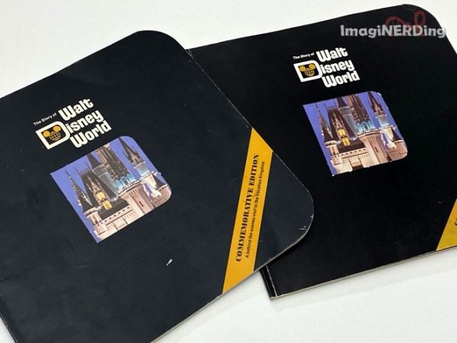 The two covers of the Story of Walt Disney World Commemorative Edition