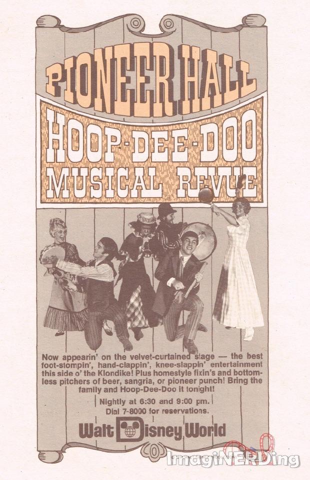 hoop-dee-doo musical revue ad from 1975