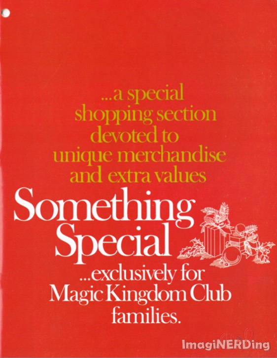 advertisement for the walt disney's magic kingdom club holiday shopping guide