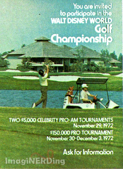 poster for the walt disney world golf championship
