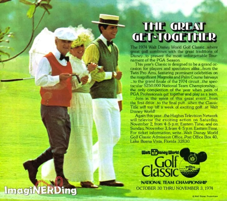 advertisement for the 1974 Walt Disney World Golf Classic