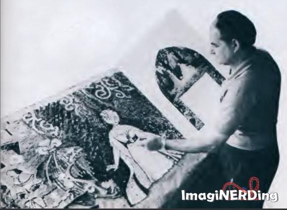 Hanns-Joachim Scharff, mosaicist for Cinderella Castle at the Magic Kingdom
