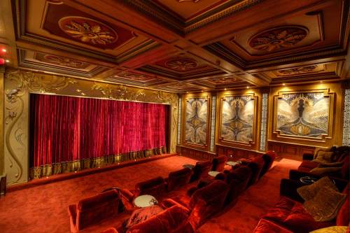 Luxury home cinema installation.