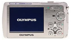Olympus Stylus 760 Back View