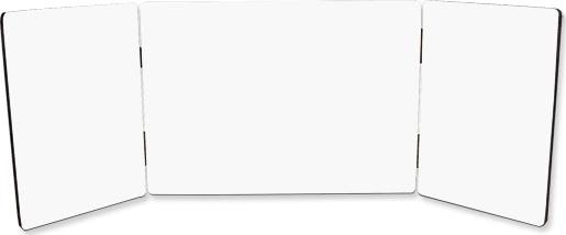 ChromaLuxe Hinged Tri-Panel Photo Panel Gloss White