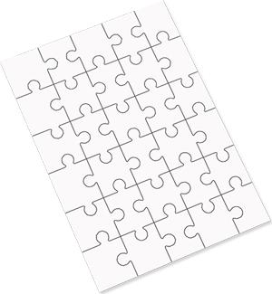 Hardboard Jigsaw Puzzle 30 Piece 6.88 x 9.84 inches