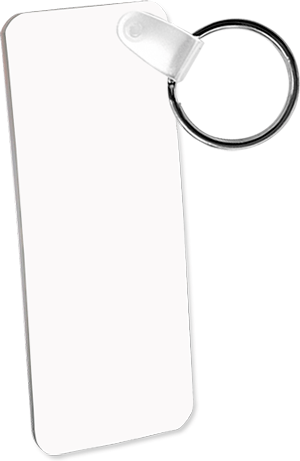 Aluminum Key Chain Rectangle 2 sided 1.25 x 3 inches
