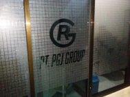 stiker sandblast kotak cutting di PT PGJ Group Makassar