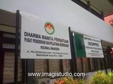 Papan Nama Instansi Balai DIklat Depdagri Jl. Paccerakkang Makassar