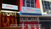 Pemasangan Neonbox pesanan Asuransi Cakrawala Proteksi Jakarta
