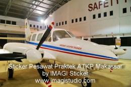 Sticker Bodi Pesawat Praktek