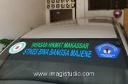 stiker mobil operasional Inova stikes bina bangsa majene