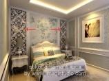 stiker ornament kaca pesanan Interior23 Jakarta untuk kamar tidur rumah di Panakkukang Mas Makassar