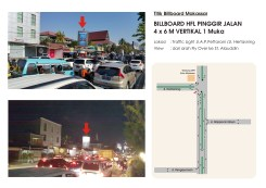 lokasi Billboard 4x6 jalan Pettarani Traffic Light Hertasning Makassar