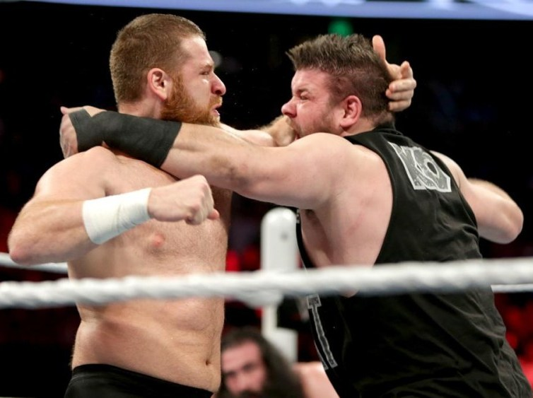 Kevin Owens wrestles Sami Zayn at WWE Battleground