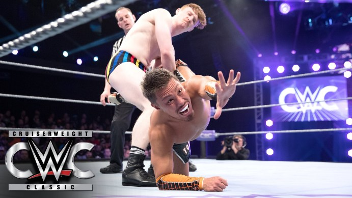 Jack Gallagher takes on Akira Tozawa in the Cruiserweight Classic. Both men are now full-time WWE employees