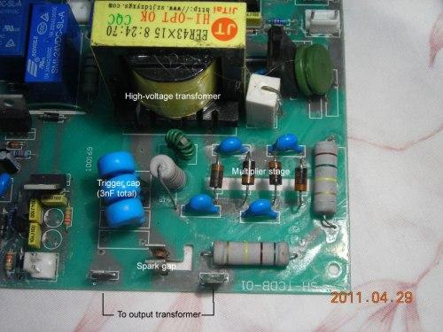 small resolution of hf hv start circuit in tig welder