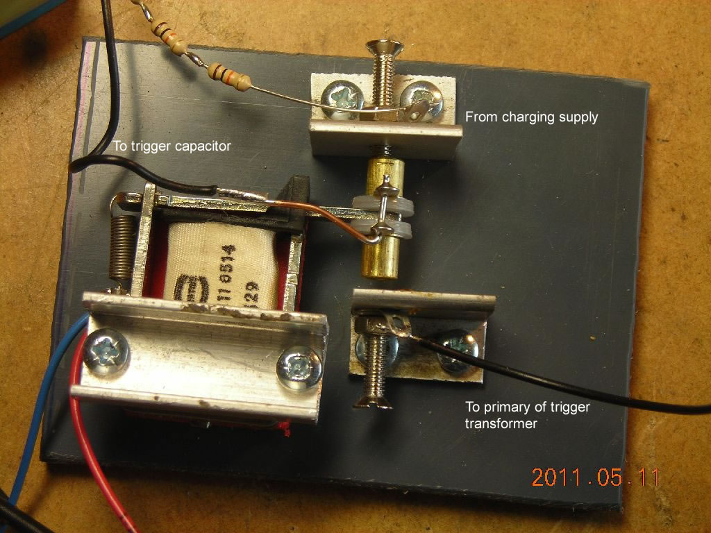 hight resolution of trigger relay trigger capacitor