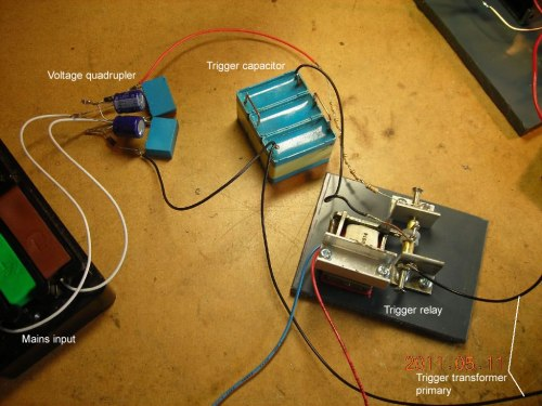 small resolution of trigger capacitor relay and charging supply