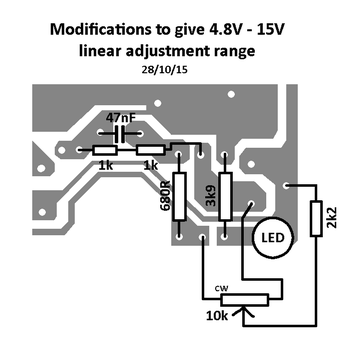 Modifying a Chinese power supply to provide a variable voltage