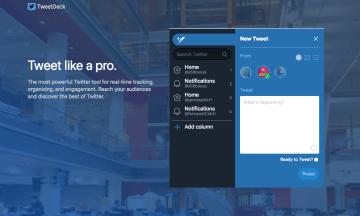 Twitter クライアントの TweetDeck で他のアカウントを追加する方法