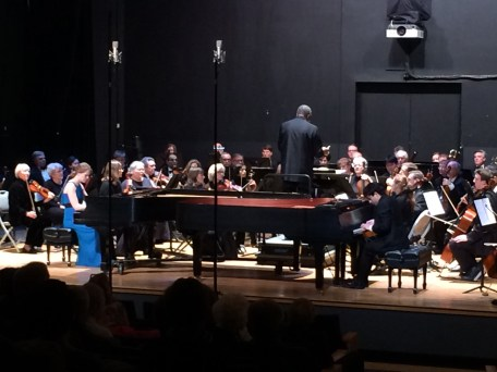 Piano Pinnacle performs with Dexter Community Orchestra, conducted by Anthony Elliott