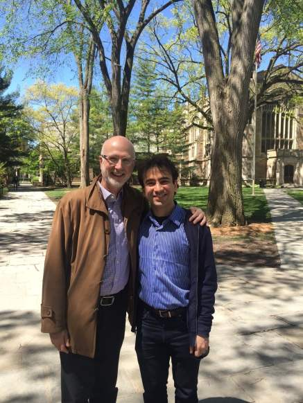 With former teacher, and long-time mentor and friend, composer Jeffrey Ryan in Ann Arbor, Michigan - May 2017