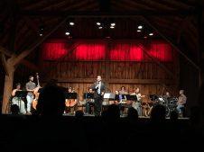 Habibi speaking to audiences at Westben Composer-Performer Residency