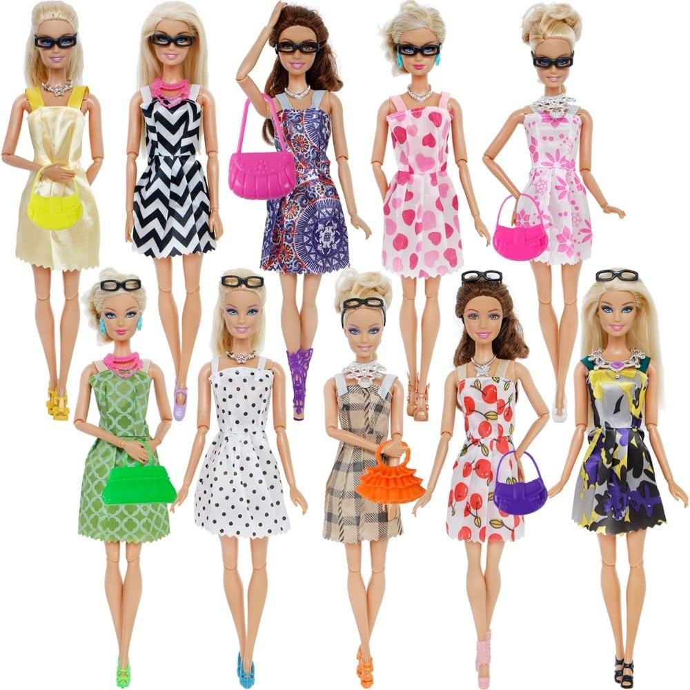 Doll Accessories Barbie Doll Clothes Toys 8