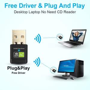 New USB WiFi Adapter with AC600 Free Driver Computers & Tablets 2