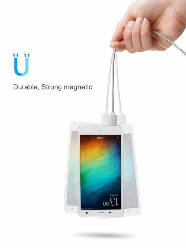 2.4A Micro USB Cable Magnetic Fast Charging Cable Smartphone 8