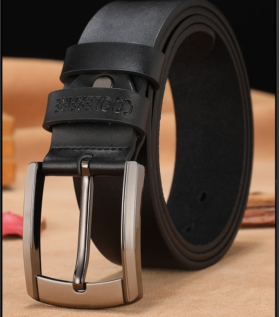 New Black Leather Belt for Fashionable Men Men's Clothing and Accessories 6