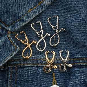 Cute Stethoscope Brooches for Doctor Brooches 2