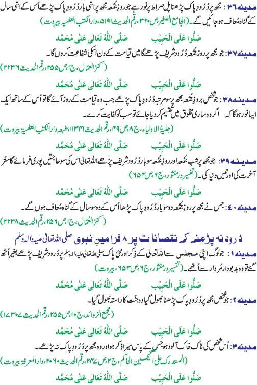 Durood Shareef Ki Fazeelat Hadees Ki Roshni Mei