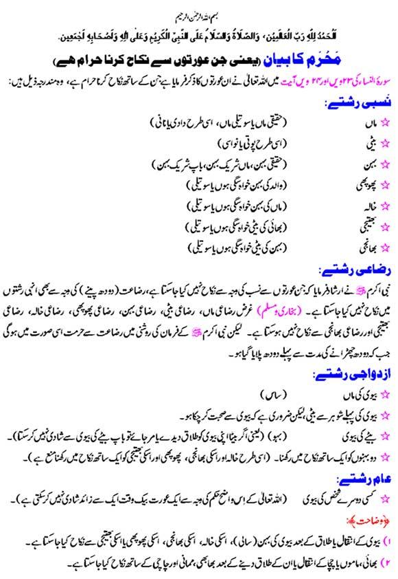 Mehram | Iman Islam - Islamic Education