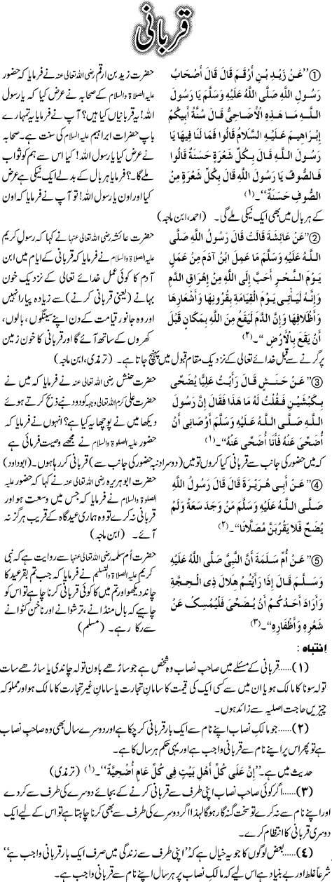 Qurbani Kay Ahkam