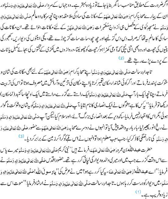 Nabi e Akram Aur Sahaba Kay Gharon Ki Saadgi
